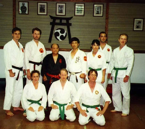 Training with Grandmaster Shimabukuro in Miami (1996)